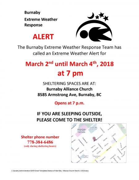 Notice of Alert Bby Alliance Church March 2 2018